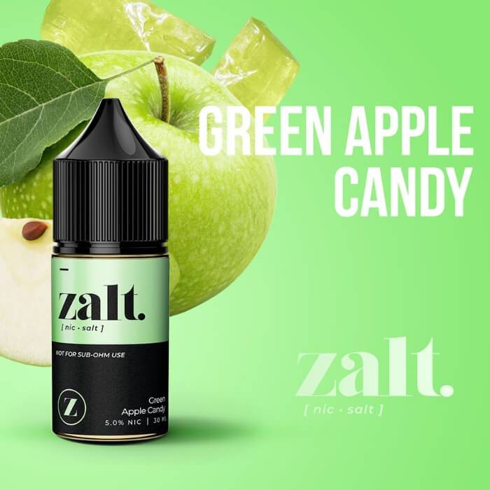 Green Apple Candy by Zalt Nicotine Salt eJuice