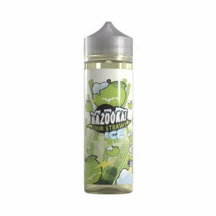 Ice Green Apple Sour Straws by Bazooka eJuice #1