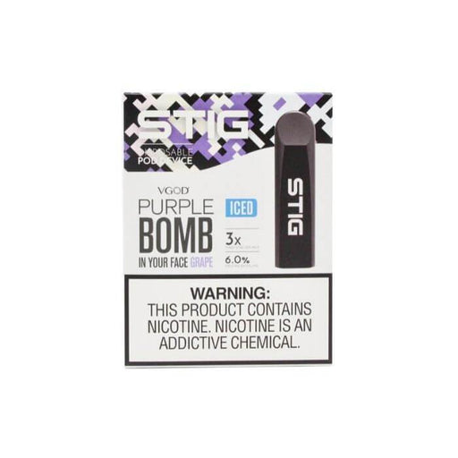 VGOD STIG Iced Purple Bomb Disposable Pod Device