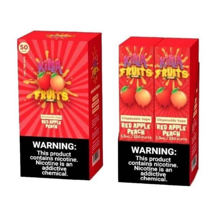 Killa Fruits Red Apple Peach Disposable Device