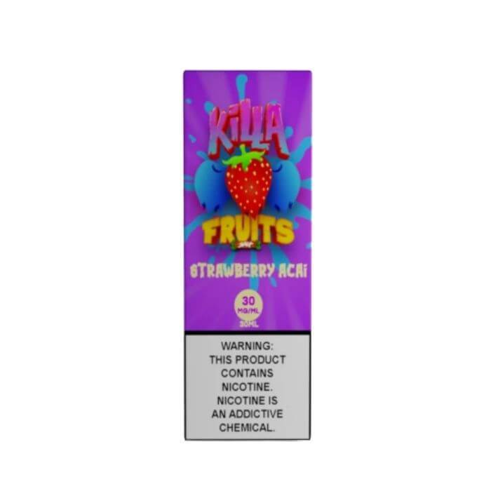 Strawberry Acai Salt Nic by Killa Fruits Nicotine Salt E-Liquid