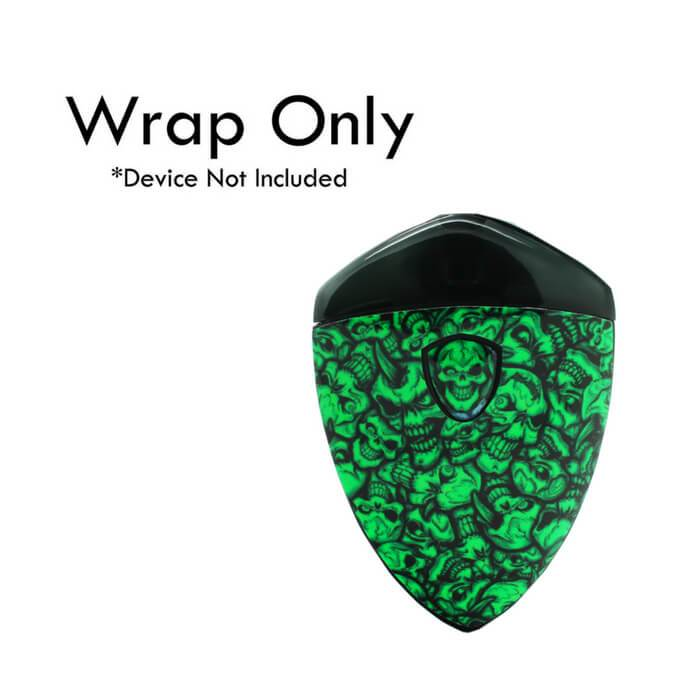 VCG Smok Rolo Badge Wraps: Green Skulls #1