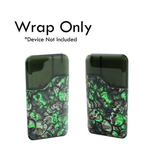 VCG Suorin Air Wraps: Green Skulls #1