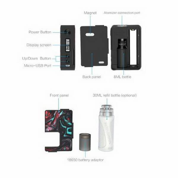 Vandy Vape Pulse BF 80W Regulated Resin Squonk Mod