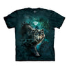 The Mountain Night Wolves Collage Adult Unisex T-Shirt-Cyberteez