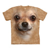 The Mountain Big Face Chihuahua Face Adult Unisex T-Shirt-Cyberteez