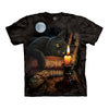 The Mountain Witching Hour Cat Adult Unisex T-Shirt-Cyberteez
