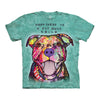 The Mountain Pit Bull Smile Adult Unisex T-Shirt-Cyberteez