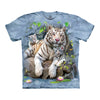 The Mountain White Tigers of Bengal Adult Unisex T-Shirt-Cyberteez