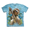 The Mountain Sloth And Butterflies Adult Unisex T-Shirt-Cyberteez