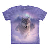 The Mountain Northern Lights Adult Unisex T-Shirt-Cyberteez