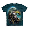 The Mountain Wolf Lookout Adult Unisex T-Shirt-Cyberteez