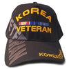 Korea Veteran Hat Black Adjustable Cap-Cyberteez
