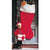 "Santa Claus Christmas Stocking Super Huge Jumbo 60"" Inch Regal Plush Felt Boot"