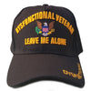 Dysfunctional Veteran Hat Military Black Adjustable Cap-Cyberteez