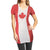 Canada Canadian Flag Women's Beach Bikini Cover Up Burnout Fabric T-Shirt