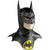Batman Adult Size Latex Costume Mask w/ Cowl And Logo DC Comics