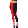 Harley Quinn 2 Tone Women's Diamond Jester Leggings Stockings-Cyberteez