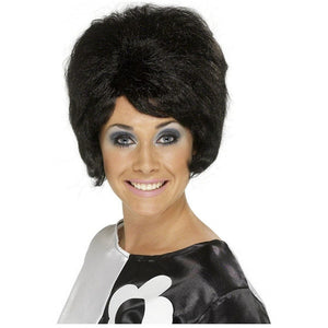 Wigs cyberteez 60s beehive bouffant womens black wig costume accessory publicscrutiny Image collections