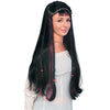 Fair Maiden Medieval Renaissance Women's Long Black Braids Costume Wig-Cyberteez