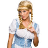 Cowgirl Women's Braided Blonde Swiss Miss Oktoberfest German Beer Girl Costume Wig-Cyberteez