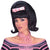 50's Women's Black Bouffant Costume Wig