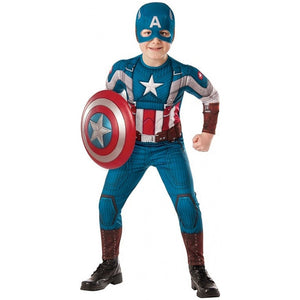 20821f3375f Captain America Retro Winter Soldier Child Kids Boys Youth Muscle Chest  Costume