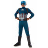 Captain America Costume Boys Deluxe Kids Child Marvel Civil War Jumpsuit Outfit-Cyberteez