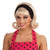 50's Women's Flip Wig Blonde Costume Accessory