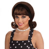 50's Women's Flip Wig Brown Costume Accessory-Cyberteez