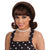 50's Women's Flip Wig Brown Costume Accessory