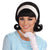 50's Women's Flip Wig Black Costume Accessory