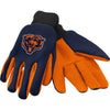 Chicago Bears NFL Team Adult Size Utility Work Gloves-Cyberteez
