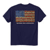 NRA USA Flag Shotgun Shells Navy T-Shirt-Cyberteez