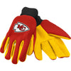 Kansas City Chiefs NFL Team Adult Size Utility Work Gloves-Cyberteez
