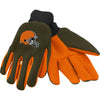 Cleveland Browns NFL Team Adult Size Utility Work Gloves-Cyberteez
