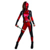 Deadpool Women's Jumpsuit w/ Mask Marvel Costume-Cyberteez