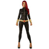 Black Widow Women's Jumpsuit Marvel Avengers Costume-Cyberteez