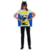 Batgirl Superhero Batman Women's Costume T-Shirt w/ Cape And Mask-Cyberteez