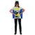 Batgirl Superhero Batman Women's Costume T-Shirt w/ Cape And Mask