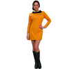 Star Trek Costume Women's Deluxe Dress Original Series Uniform Commander Gold-Cyberteez