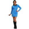 Star Trek Costume Women's Deluxe Dress Original Series Uniform Science Blue-Cyberteez