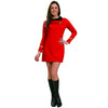 Star Trek Costume Women's Deluxe Dress Original Series Uniform Uhura Red-Cyberteez
