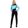 Star Trek Costume Women's Next Generation Uniform T-Shirt Science Blue-Cyberteez