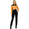 Star Trek Costume Women's Next Generation Uniform T-Shirt Operations Gold-Cyberteez