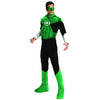 Green Lantern Men's Deluxe Muscle Chest Costume-Cyberteez