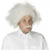 Albert Einstein Wig and Mustache Set Men's Adult Mad Scientist Costume Accessory-Cyberteez