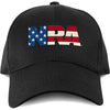 NRA National Rifle Association USA Flag Fill Logo Adjustable Cap-Cyberteez