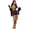 Sophisticated Lady Women's Roaring 20s Flapper Sequin Dress Costume-Cyberteez