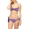 Budweiser Beer Retro Print Women's Bandeau Twist Top Bikini Swimsuit-Cyberteez